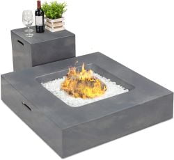 Best Choice Square Propane Fire Pit Table